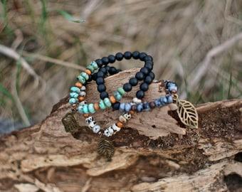 Three Leaf Bangle Bracelet!