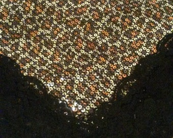 Stunning Sequence Cheetah design - Church Lap Scarf