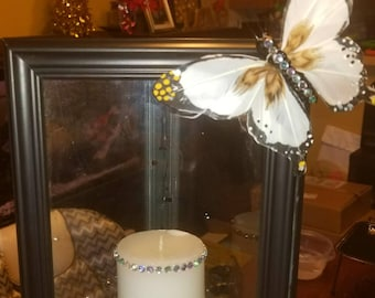 Triangle butterfly candle holder