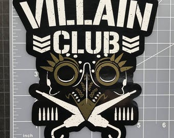 The Villain Club Marty Scurll The Bullet Club Elite Vinyl Car Decal NJPW ROH WWE The Elite