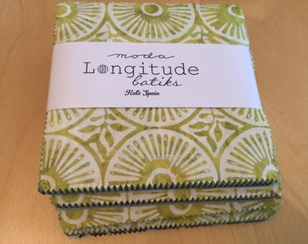 Longitude Batiks by Kate Spain for Moda- Charm Pack