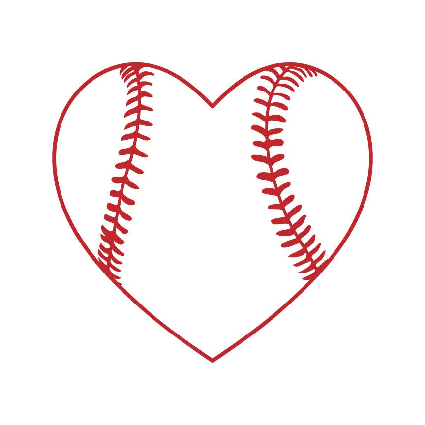 Baseball Heart Svg Baseball Svg Files Baseball Cut File