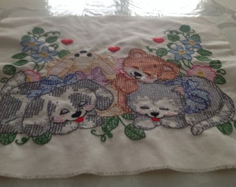 Cross stitch sampler to be framed