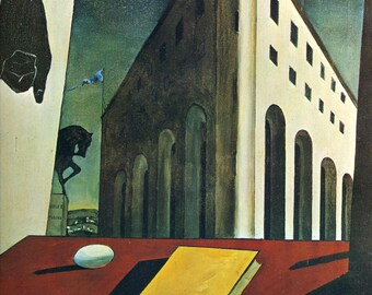Turin Spring by Giorgio De Chirico Home Decor Wall Decor Giclee Art Print Poster A4 A3 A2 Large Print FLAT RATE SHIPPING