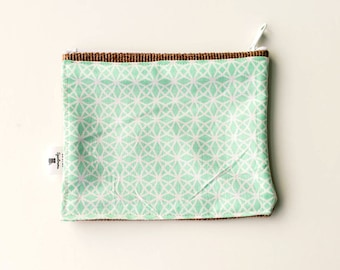 Light Blue and White Fabric Print Wallet
