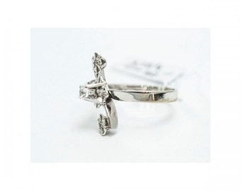 Modern ring Mineralife grey 18kt gold and diamonds