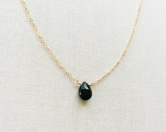 Black onyx necklace etsy black onyx necklace aloadofball Image collections