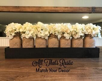 Extra Large Centerpiece, Mason Jar Centerpiece, Rustic Centerpiece, Mason  Jar Decor.Planter