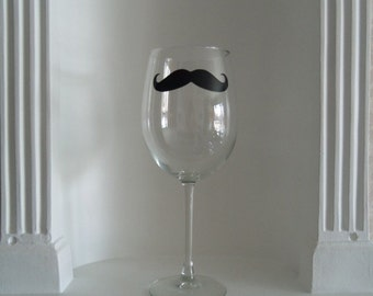 Mustache Wine Glass, Mustache Glass, Mens Gifts , Housewares, Glassware, Home & Living, Wine Glasses, Holidays, mustache glasses, moustache