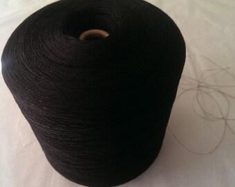 1 spool 1 kg paper yarn black Nm 50/1 on paper cone 180 den