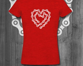 Chain To My Heart shirt Bike T-Shirt Cycling Clothing Cycling Apparel Road Cycling Mountain Bike Apparel gifts for him Father's Day gifts