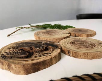 Driftwood coasters - pack of 4