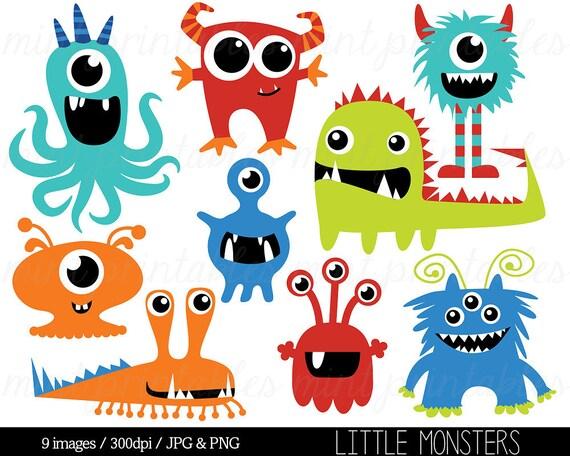 monster clipart monsters clip art birthday clipart monster rh etsy com clipart monsters black and white clipart monsters black and white