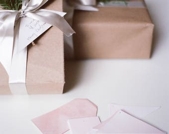 Naturally Dyed Cotton Paper Tags