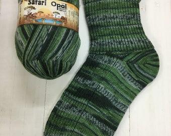 Sockyarn Opal Safari 4ply 425 meter (465yards) 100 g per skein sock- and jumperyarn all shades of green and grey colours code 9532