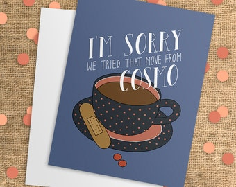 Get Well Card - Feel Better - Get Well Soon - Adult Cards - Adult Humor - Card for Him - Card for Her - I'm Sorry