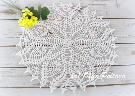 Pineapple Doily Pattern Simple Crochet Doily Pattern with