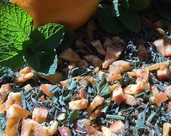 Organic Citrus Mint Loose Tea With Orange And Lemon Peel ,Lemon Grass And Mint