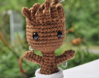 Crochet Little Baby Groot