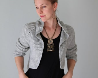 Snowcloud Shrug/Cardigan PDF KNITTING PATTERN