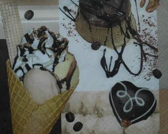 038 frozen dessert napkin
