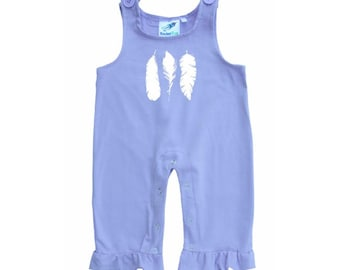 Baby and Toddler Overalls-Feathers