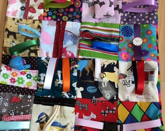 Dementia Alzheimer's Fidget Blankets Handmade
