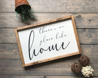 There's no place like home, Housewarming, Housewarming gift, Farmhouse, Sign, Wood Sign, Wooden Sign, Farmhouse Style, Wall Art, Handmade