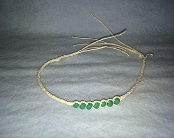 White hemp wish bracelets