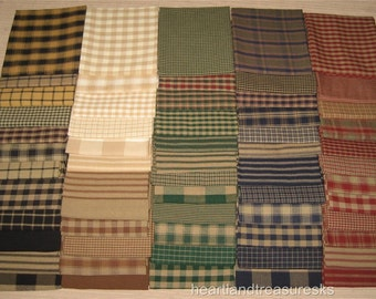Dunroven House 60 Primitive Homespun U0026 Solid Fabric Fat Quarters