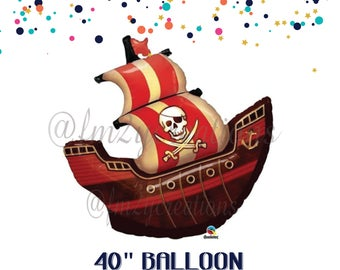 Pirate Ship Balloon | Pirate Party | PIRATE BIRTHDAY Pirate Balloons | Pirate Party Decor | Pirate Decorations | Pirate Favors | Pirate ship
