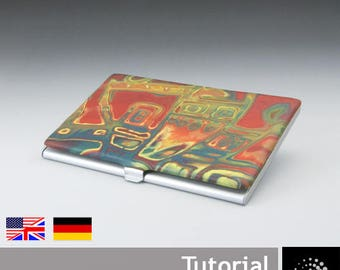 "Polymer Clay PDF Tutorial ""Scrap Mokume Card Holder"""
