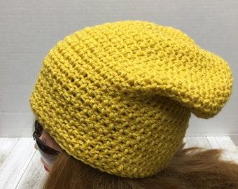 Crochet Slouchy Hat, Beanie, Slouch Hat, Winter Hat