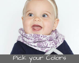 Baby Infinity Scarf Baby Gift Toddlers Scarfs Baby Scarf Toddler Infinity Scarf Baby Scarves Flannel Baby Scarf Baby Snap Scarf