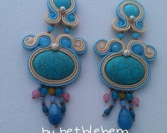 Earrings Soutache Boho XL