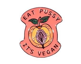 Vegan Enamel Lapel Pin - Vegan Pin Badge