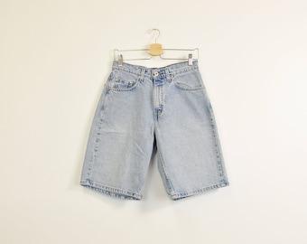 Levis Denim Shorts, Mens Jean Shorts, Vintage Levi Shorts, Levis Silver Tab Shorts, High Waist Shorts, Loose Denim Shorts Size 29