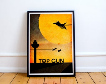 Top Gun Poster - Wall Art Print - Tom Cruise - Quote - (Available In Many Sizes)