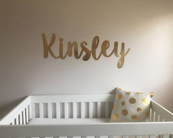 Nursery Name- Wall Letters- Wall Name Sign-custom name sign-wall decal-wall decor-nursery wall sign-nursery decor
