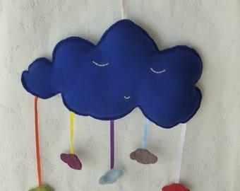 Pendant big blue cloud with rain clouds