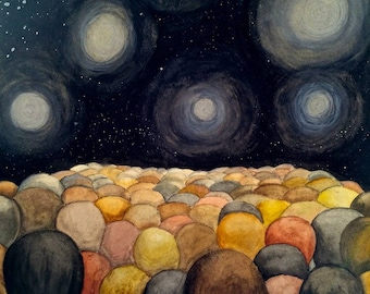 Spectation Watercolor 12 x 15 in.