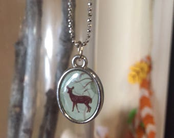 Girls Love Nature Too- silver-plated chain necklace with nature pendant