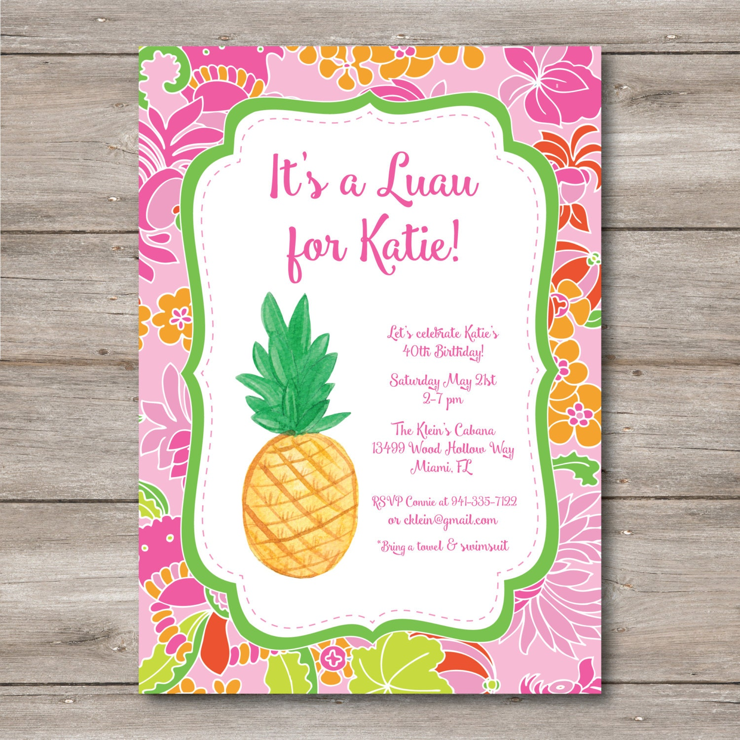 Luau invitation with editable text to print at home diy luau zoom stopboris Gallery
