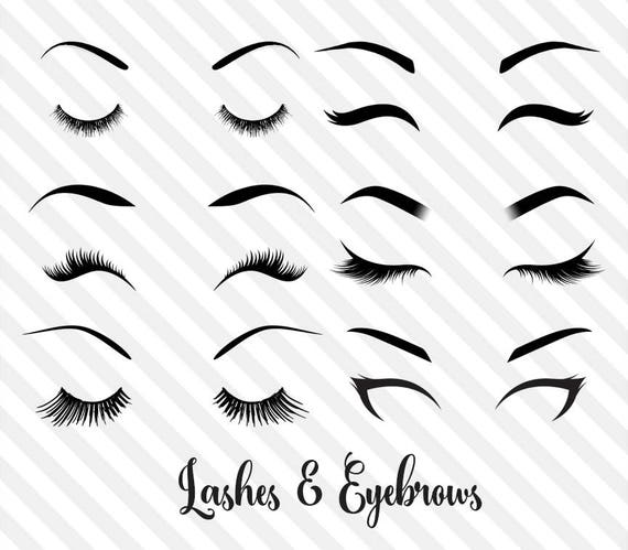 Lashes And Eyebrows Clipart Princess Eye Makeup Eye Vector