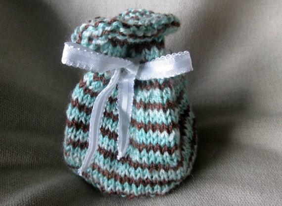 Drawstring Pouch Knitting Pattern Reusable Knit Gift Bag