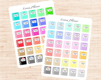 Planning Time Functional Basics (matte planner stickers, Erin Condren, Happy Planner)