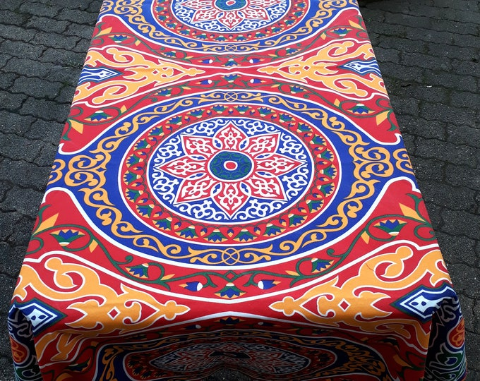 Egyptian cotton khayameya Ramadan tablecloth traditional of lotus flower wall hanging or table decor guest ethnic gift