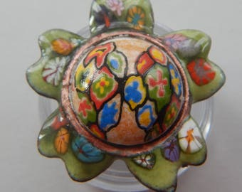 Large Enameled Shank Button 2018 B-19