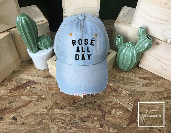 Rosé All Day Hat Denim Cap Jean Cap Yes Way Rose Rose all