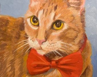 Cheetoh, 8x10 Original Oil Painting on Panel by Alice Leggett